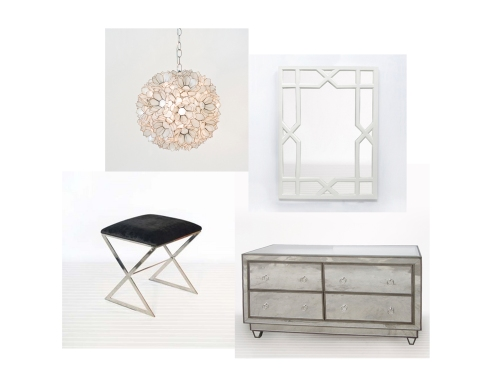 stunning white lacquer nightstand furniture. Top Left: 15\u2033 Diam Lotus Venus Chandelier Right: 43\u003d2\u2033x31\u2033 Vero White Mirror Bottom X Side Ottoman 60\u2033 Simone Mirrored Dresser Stunning Lacquer Nightstand Furniture 4