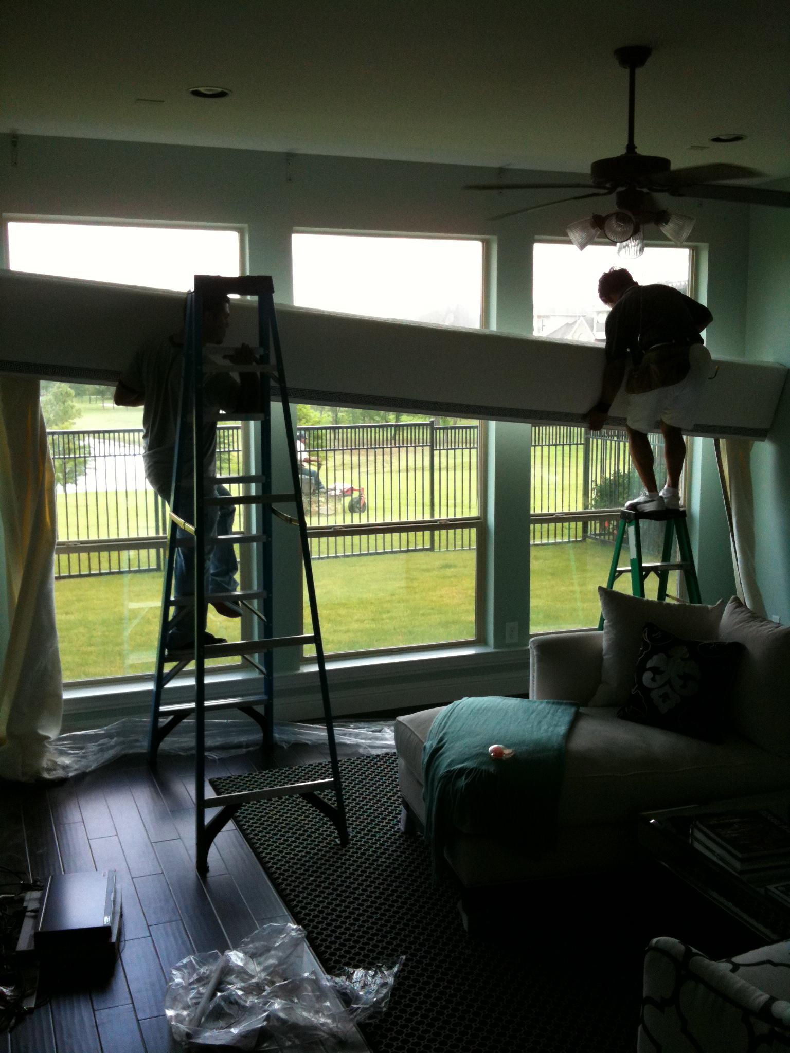 Black Roman Shades Living Room