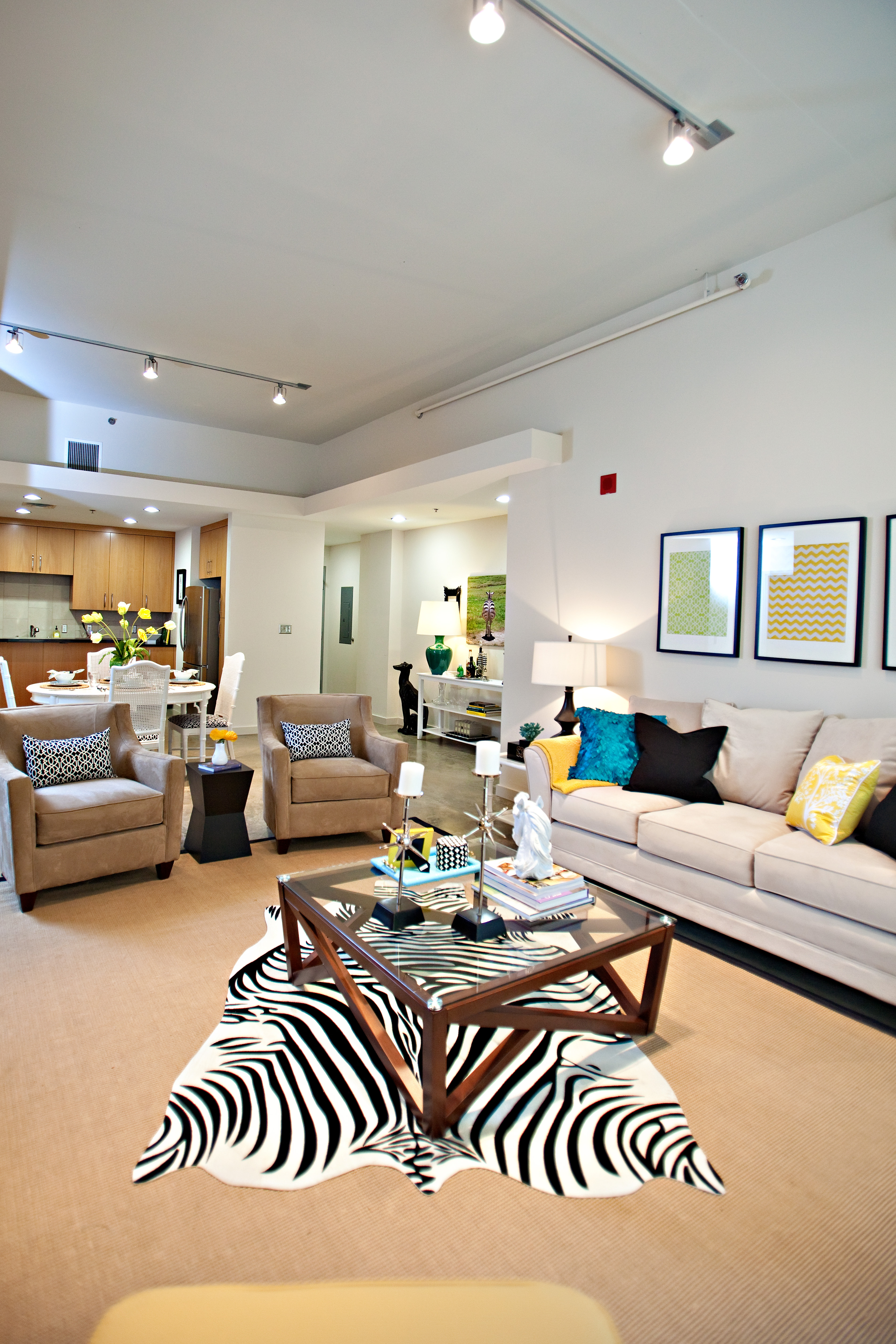 Zebra Rug Living Room Eclectic Living Room