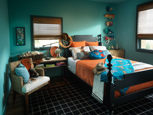 Turquoise & Orange - Turquise And Orange Home Decor