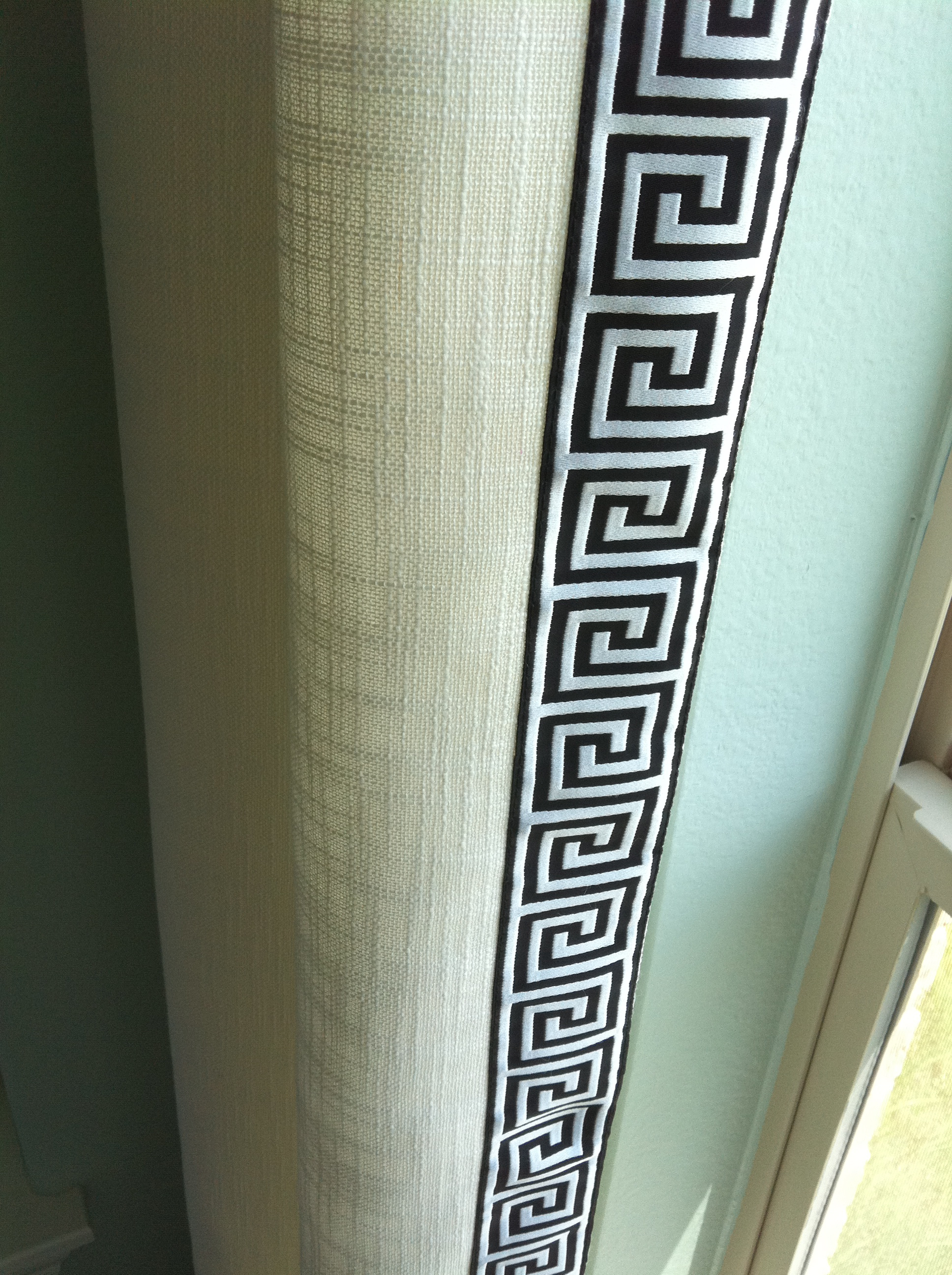 Greek Key Trim On Drapes