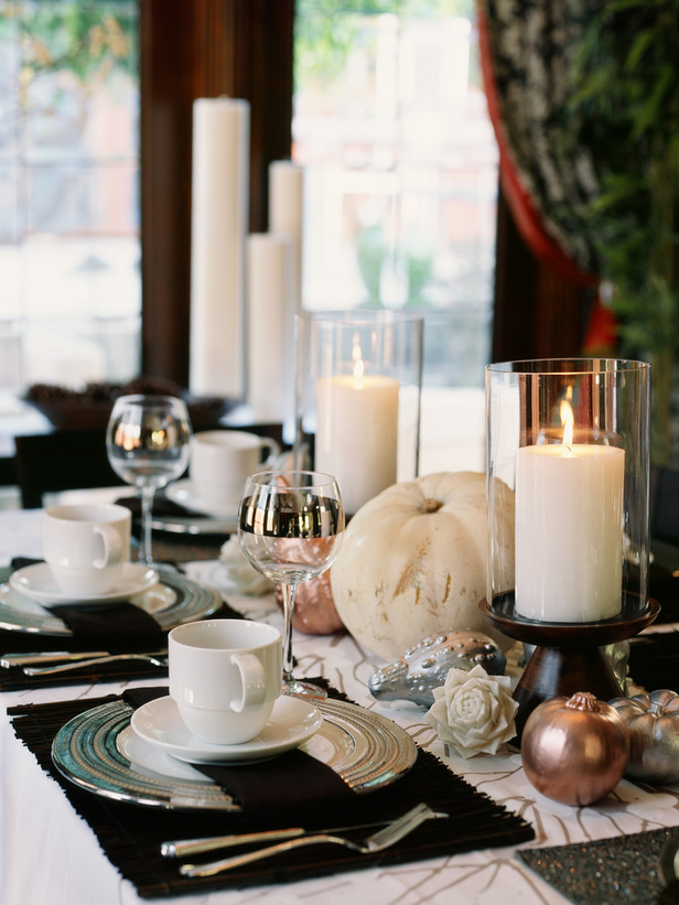 glamorous thanksgiving tablescapes