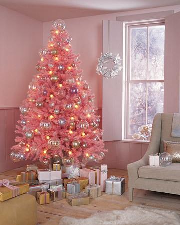 pink christmas tree - Pink Christmas Tree Lights
