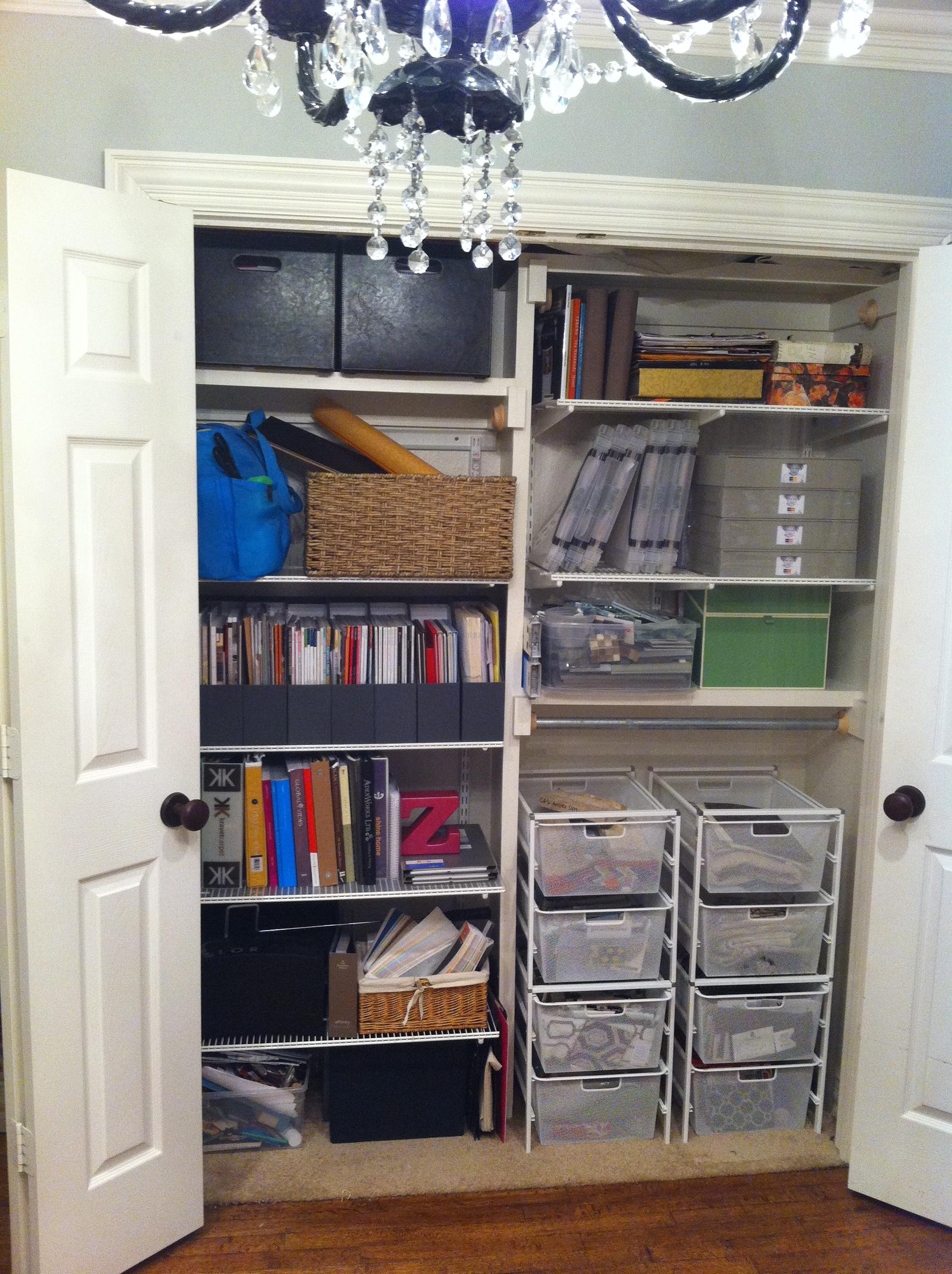 organizing an office closet